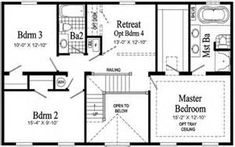 Second Story House Additions Floor Plans