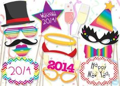 Best New Year's Eve Printable Photo Booth Props | Photo Booth Props