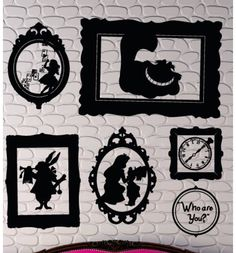 Silhouette alice in wonderland wall decals