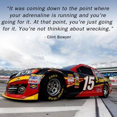 Clint Bowyer shares what runs through his mind during a race!