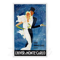 Monte Carlo Monaco Glamour Travel Art Print.