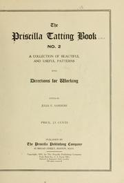 The Priscilla Tatting Book No. 2, published 1909
