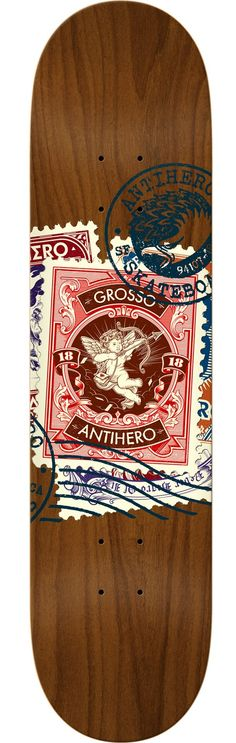 Anti Hero Skateboards Jeff Grosso Postal Assorted Deck