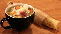 Kjøttsuppe til termos. Kanskje ha med som varm lunsj på skolen?