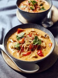 Thermomix recipe: Coconut soup Tom Kha Gai - Recipe for the Thermomix: Tom Kha . - Thermomix recipe: Coconut soup Tom Kha Gai – Recipe for the Thermomix: Tom Kha Gai soup – - Hamburger Meat Recipes, Sausage Recipes, Soup Recipes, Drink Recipes, Asian Recipes, Healthy Recipes, Ethnic Recipes, Thermomix Soup, Vegetable Soup Healthy