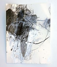 Sango iro no tsubomi Acrylic and charcoal on Hahnemuhle Bamboo - abstract art 2 - Kunst Art Blanc, Modern Art, Contemporary Art, Abstract Oil, Abstract Paintings, Art Paintings, White Art, Painting & Drawing, Drawing Tips