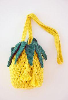 Pineapple Brasiliana Crochet Bag by TemosVagas on Etsy