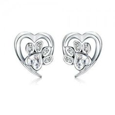 Animal Footprints, Wholesale Silver Jewelry, Heart Ring, Sterling Silver, Earrings, Animals, Style, Ear Rings, Swag