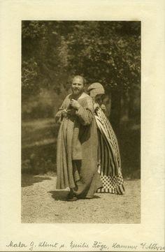 Emilie Flöge designer behind the dresses in Gustav Klimt's paintings - pictured with the artist