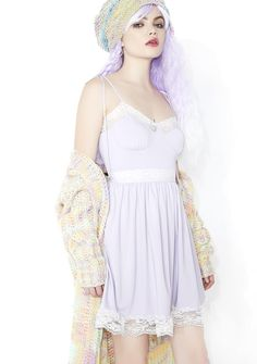Sugar Thrillz Cutie Chaser Lacy Dress can't wait for another day of admiring sweets~! This ultra cute sun dress features a perfect pastel purple construction, sweetheart neckline trimmed with white lace, a full 'N flirty skirt with lace edging, thin tied shoulder straps, and concealed side zip closure.