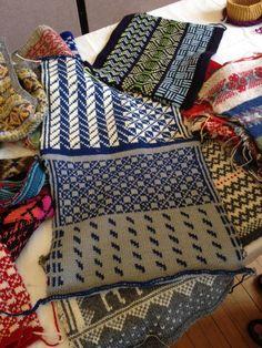Samples by Mary Jane Mucklestone of #Scandinavian #knitting.