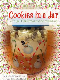 Gift ideas food gifts christmas gifts cookie recipe baking frugal christmas gift idea cookies in a jar recipe round up with forumfinder Images