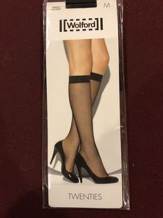 c38c438110d Wolford Twenties Fine-Net Knee-Highs  fashion  clothing  shoes  accessories   womensclothing  hosierysocks (ebay link)