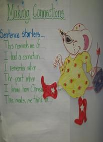 Making Connections sentence starters