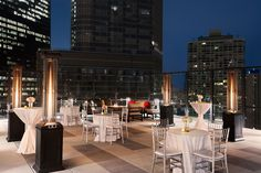 Our new outdoor terrace is the ideal location for cocktail hours. www.wyndhamgrandchicagoriverfront.com