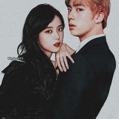 Jisoo and jin break up😢 Bts Jin, Bts Taehyung, Bts Twice, Au Ideas, Kpop Couples, Blackpink And Bts, Cute Comics, Blackpink Jisoo, Together Forever