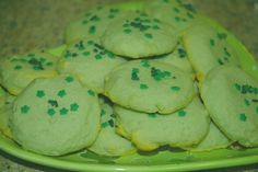 DeLish DeMaria: St. Patrick's Day Jell-O Cookies, can be used with any Jello for any color/flavor/holiday combo!