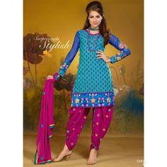Stylist look with new embroidery designe work patiyala salwar suit