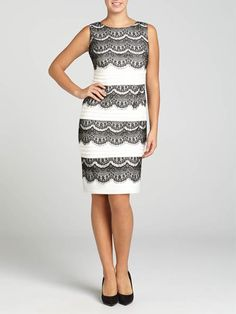 Laura. Sleeveless. Mixed lace and jersey. Tuck detail. Pull-on style. Slight stretch. Lined. Imported....3030103-0725
