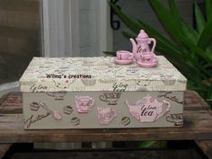 Decoupage, teabox. Wilma's creations