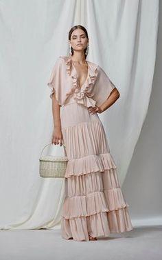 Johanna Ortiz M'O Exclusive Songs Of Innocence Double Georgette Dress Boho Fashion, Fashion Dresses, Womens Fashion, Fashion Design, 80s Fashion, Fashion Tips, Beautiful Dresses, Nice Dresses, Dress Skirt