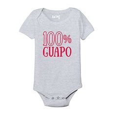 100% GUAPO Cinco De Mayo Spanish Mexico Mexican Holiday Novelty - Baby One Piece. Machine Washable. Preshrunk to minimize shrinkage. 3 snap closure. Solid colors and prints are 100% cotton. Athletic heather is 90% cotton / 10% polyester. KidTeez is a graphic tee company that specializes in selling cute, trendy and funny designs for your kids. Parents our KidTeez apparel is the perfect solution for your kid's everyday style needs and is the go to choice of your little ones.