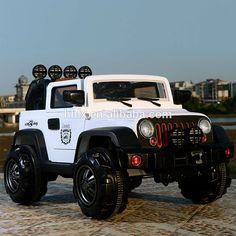 plastic white,plastic wheel two batteries,two motors Kids Ride On Toys, 2017 Jeep Wrangler, Sales And Marketing, New Model, Monster Trucks, Motors, Plastic, App, Check