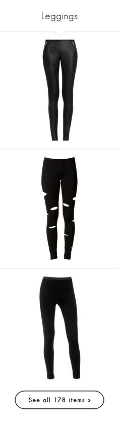 """""""Leggings"""" by jacci0528 ❤ liked on Polyvore featuring pants, Leggings, tights, leggings, bottoms, jeans, calça, black, leather jersey and jersey pants"""
