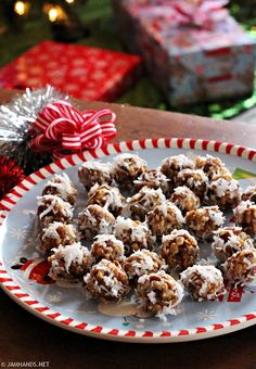 Jam Hands: Date and Rice Krispies Balls Rolled in Coconut