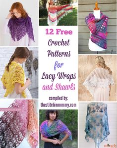 12 Free Crochet Patterns for Lacy Wraps and Shawls