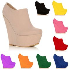 $25.48 WOMEN ELEGENT PLATFORM HIGH HEELS SUEDE SHOES ANKLE BOOTS WEDGES  US 4 11-in Boots from Shoes on Aliexpress.com | Alibaba Group