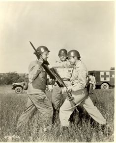 Audie Murphy was the Bayonet Instructor while in the Texas National Guard