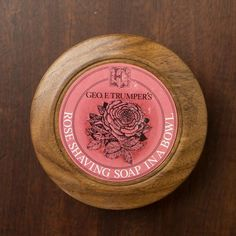 GEO.F.Trumper Rose Hard Shaving Soap in Wooden Bowl