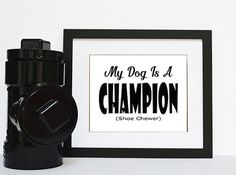 Digital Dog Typography Instant Download,  Fun Dog Quote Print Download for Dog…