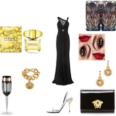 versace by m-luisa1999 on Polyvore featuring moda and Versace