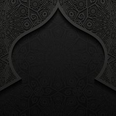 Islamic mosque with black background vector 09 Black Background Wallpaper, Luxury Background, Black Backgrounds, Page Borders Design, Border Design, Mosque Vector, Arabic Design, Islamic Wallpaper, Free Infographic