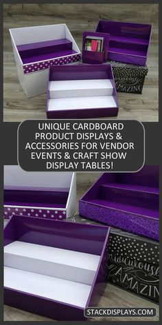 Set up at your next vendor event using Stack Displays. It saves times and does the decorating for you! Perfect for Direct Sales Consultants from Jamberry, Scentsy or Younique! These cardboard vendor table displays are not just pretty! They are extremely durable, too!