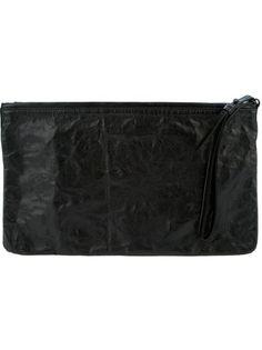 Ann Demeulemeester - Crinkled leather clutch