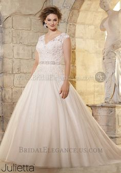 National Bridal Sale - Mori Lee 222624   Illusion & Lace Wedding Gown   Bridal Elegance & Pageantry