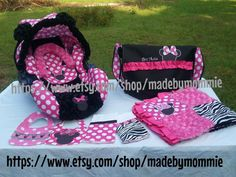 minnie mouse Infant car seat cover canopy by madebymommie on Etsy