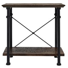 Tribecca Home Myra Vintage Industrial Modern Rustic End Table ($160) ❤ liked on Polyvore featuring home, furniture, tables, accent tables, tribecca home furniture, drawer table, two tier table, drawer furniture and two tier end table