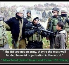 """""""The IDF are not an army, they're the most well funded terrorist organization in the world"""" Miko Peled - Jewish Israeli & former IDF officer"""