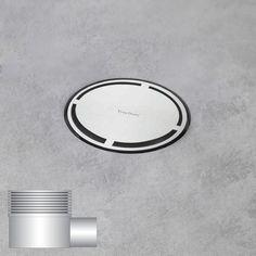 ESS Aqua Round Bodenablauf inklusive Abdeckung, waagerechter Anschluss DN50