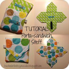 Hasta el INFINITO y mas allá!!: Tutorial porta-sándwich Steff (con patrón gratis)
