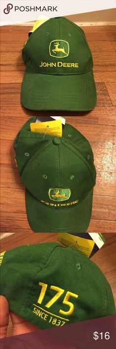 John Deere 175 Year Anniversary JD Strapback Hat Item Details: • Brand new with tags  Shipping & Handling: • Item will ship same or next business day after completed payment is received. This excludes weekends.  Note: This item is extremely rare to find in this size and condition. Everything is 100% authentic guaranteed or your money will be refunded in full payment.  Feel free to ask me any questions. John Deere Accessories Hats