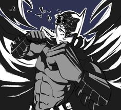Batfamily Fight Club: Batman - http://inkydandy.tumblr.com/