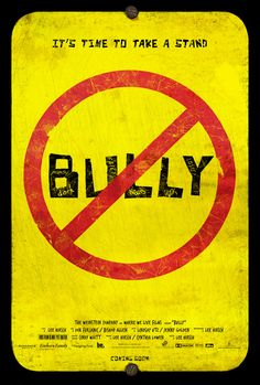 Bully, A Touching Documentary about Bullying in American Schools...if you have not seen....run FAST to Redbox and get it.  Watch with your children - you will not regret, but you better have Kleenex handy.