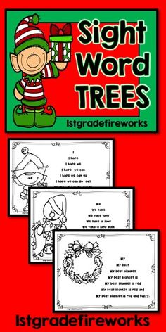 Sight Word FLUENCY practice! Fluency Practice with Sight Words. Students practice reading a sentence word by words, phrase by phrase, until they have read the complete sentence. Great practice for students who need scaffolding. Reading practice, sight word practice, and fluency modeling. Small groups, interventions, one on one, independent practice. Holiday themed.