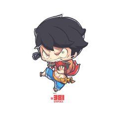 Luffy from One Piece, Jr Pencil Anime Chibi, Kawaii Chibi, Anime Manga, Cute Illustration, Character Illustration, Cartoon Drawings, Cute Drawings, All About Me Art, One Piece Tattoos