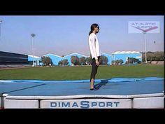 High jump - Clearing the bar drill - Falling hip up Vertical Workout, Vertical Jump Training, Track Drill, Proper Running Technique, F Video, Running Techniques, Triple Jump, Shot Put, High Heels